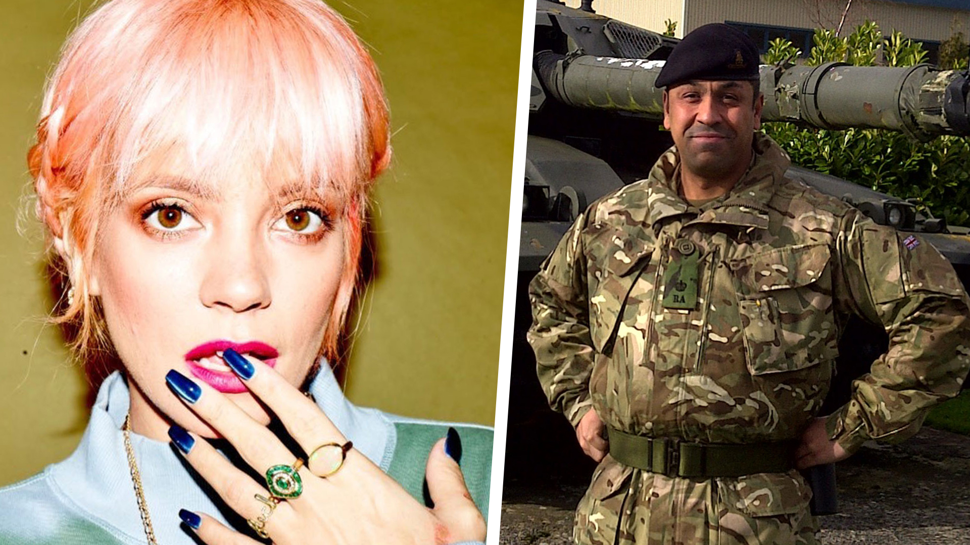 Lily Allen gets apology from soldier reported for racism