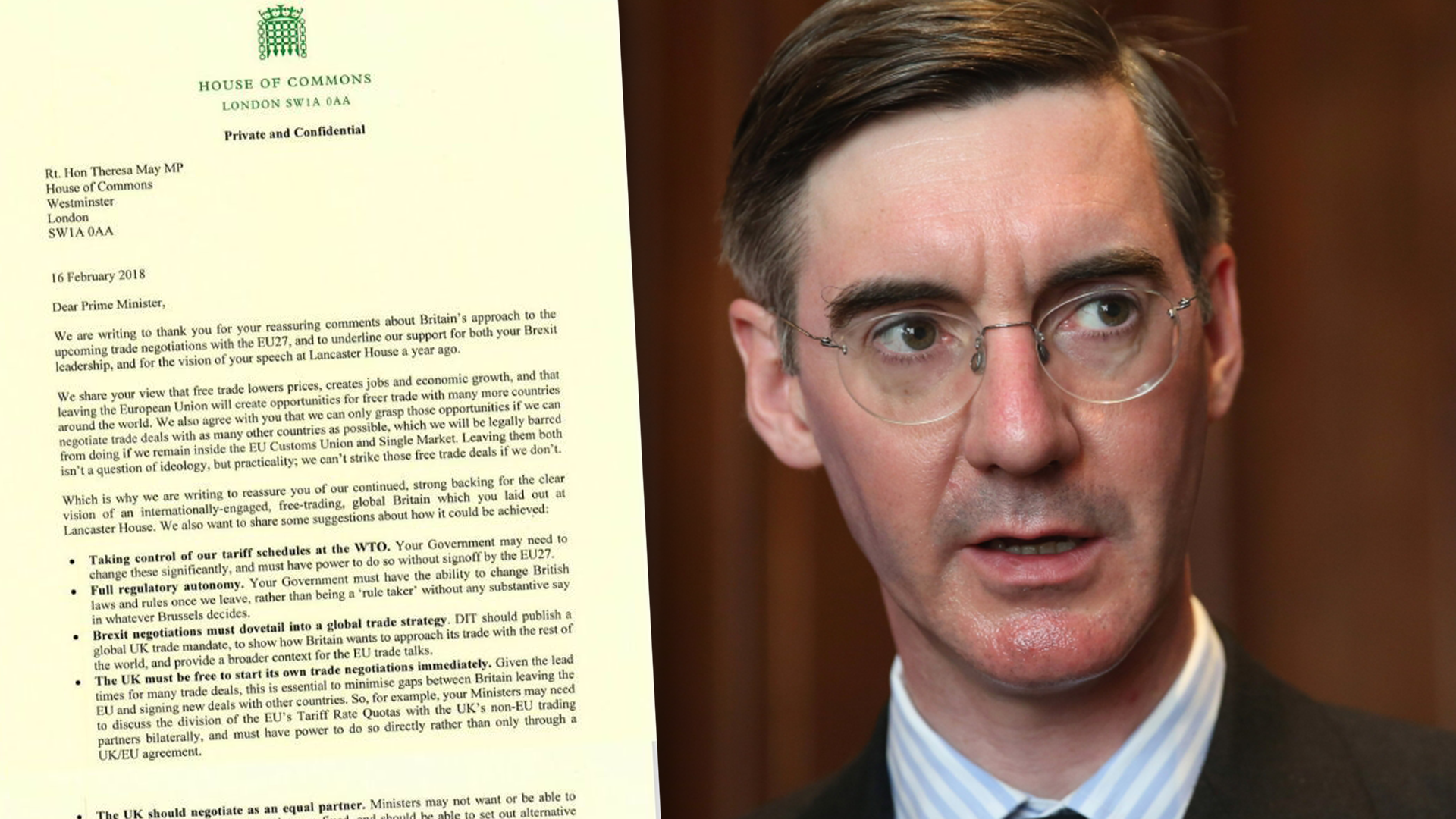 MOGG DEMANDS TRUE BREXIT: Jacob Rees-Mogg lays down red