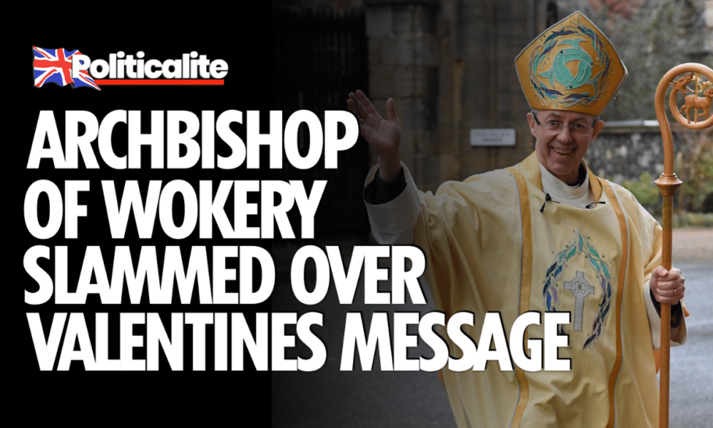 WOKE WELBY: Archbishop of Wokery Channels Black Lives Matter on Valentines Day